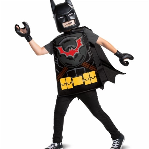 Disguise 403201 Child Lego Movie 2 Batman Basic Costume for Boys - One Size Perspective: front