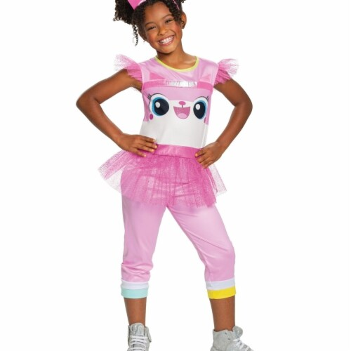 Disguise 403211 Girls Lego Movie 2 Unikitty Classic Child Costume, Medium 7-8 Perspective: front