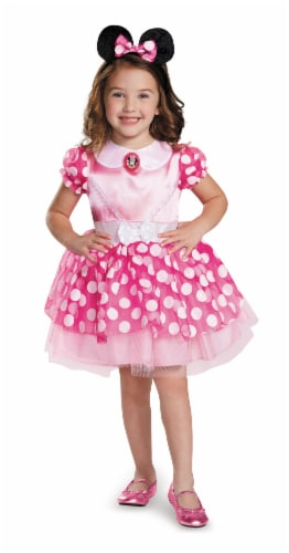 Pink Minnie Mouse Classic Tutu Costume (7 - 8) Perspective: front