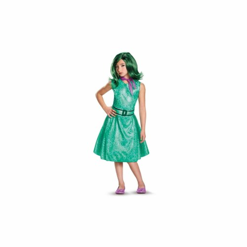Disguise 244670 Disney Inside Out - Classic Girls Disgust Costume Perspective: front