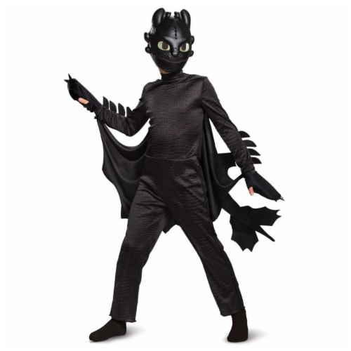 Disguise 403286 Child How to Train Your Dragon Toothless Deluxe Costume, Small 4-6 Perspective: front