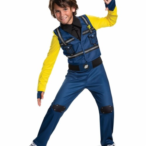 Disguise 403293 Child Lego Movie 2 Rex Dangervest Classic Jumpsuit Costume, Small 4-6 Perspective: front