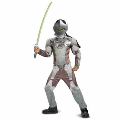 The Costume King DG19009K Genji Classic Muscle Child Costume, Gray - Medium - 7 to 8 Month Perspective: front