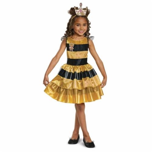 Disguise 276027 Halloween L.O.L Dolls Queen Bee Classic Child Costume - Medium Perspective: front