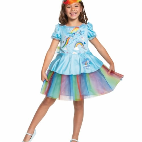 Disguise 403030 Rainbow Dash Tutu Deluxe Toddler Costume for Girls - Size 3T-4T Perspective: front