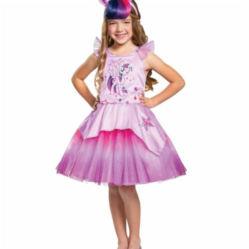 Disguise 403031 Girls Twilight Sparkle Tutu Deluxe Child Costume, Medium Perspective: front