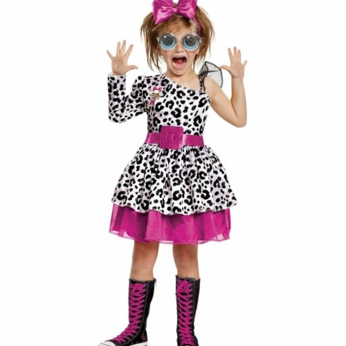 Disguise 276032 L.O.L Dolls Diva Deluxe Child Costume, Small Perspective: front