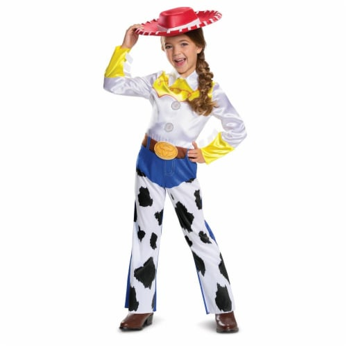 Disney Pixar Jessie Toy Story 4 Classic Girls' Costume (4-6X) Perspective: front