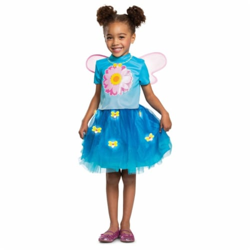 Disguise 403329 Girls Sesame Street Abby Cadabby Deluxe Toddler Costume, Large Perspective: front