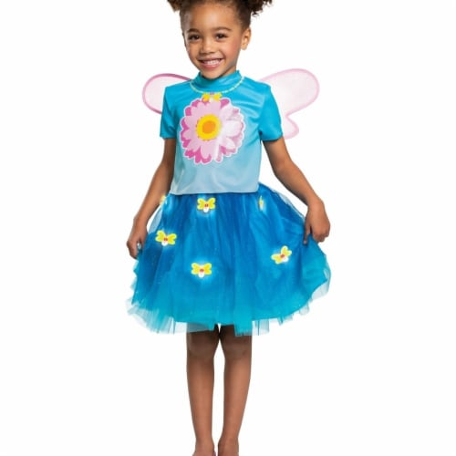 Disguise 403330 Girls Sesame Street Abby Cadabby Deluxe Toddler Costume, Medium Perspective: front
