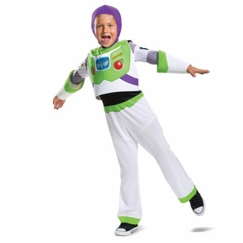Buzz Lightyear Classic Toy Story 4 Child Costume White (4-6) Perspective: front