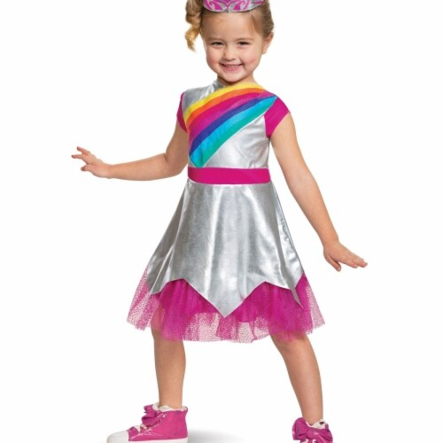 Disguise 403369 Rainbow Rangers Rosie Classic Toddler Costume for Girls - Size 3T-4T Perspective: front