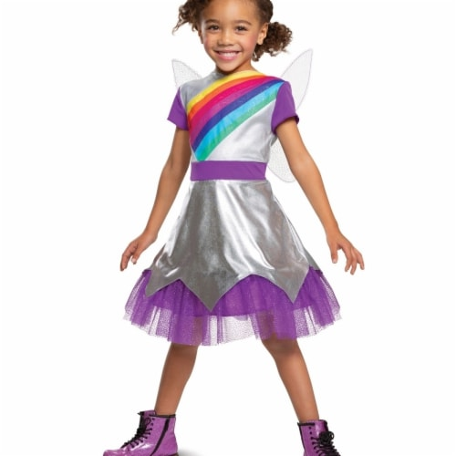 Disguise 403371 Rainbow Rangers Lavender Classic Toddler Costume for Girls - Large Perspective: front