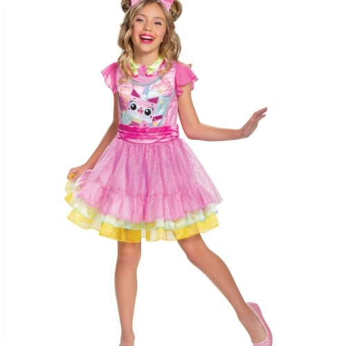 Disguise 403229 Girls Lego Movie 2 Unikitty Deluxe Child Costume, Medium Perspective: front