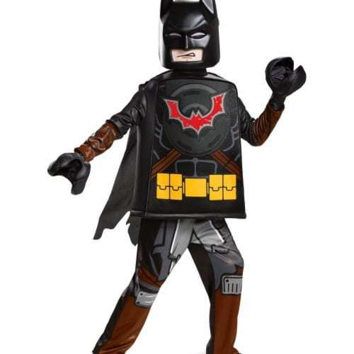 Disguise 403222 Child Lego Movie 2 Batman Deluxe Costume for Boys, Medium Perspective: front