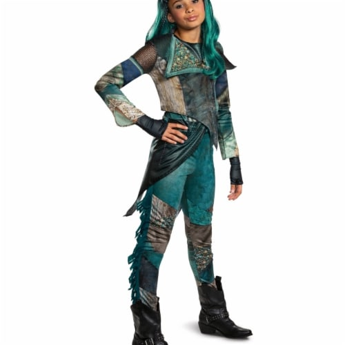 Disguise 403101 Girls Descendants 3 Uma Deluxe Child Costume, Small Perspective: front