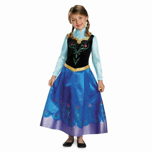 Disguise 403152 Frozen 2 Anna Prestige Child Costume for Girls - Size 7-8 Perspective: front