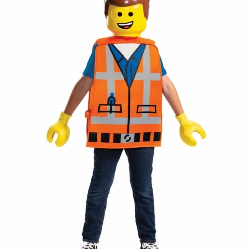 Disguise 403200 Lego Movie 2 Emmet Basic Child Costume - One Size Perspective: front