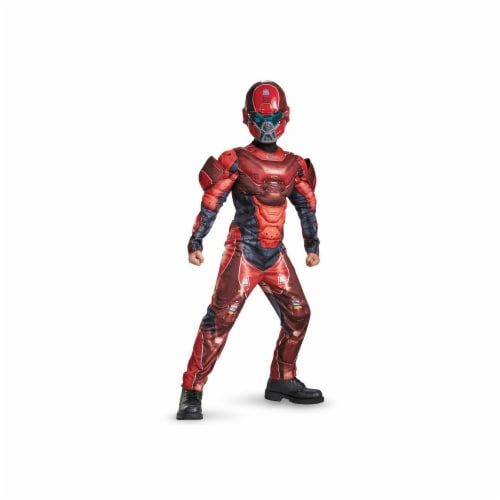Disguise 245160 Halo Red Spartan Classic Muscle Child Costume - Medium Perspective: front