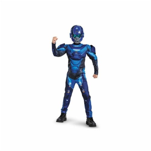 Disguise 245163 Halo Blue Spartan Classic Muscle Child Costume - Large Perspective: front