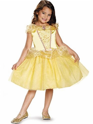 Disguise Belle Classic Disney Princess Beauty & The Beast Costume - Small/4-6X Perspective: front