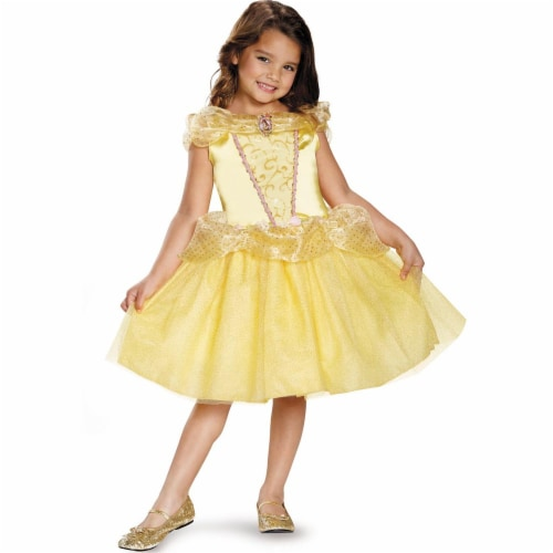 Disguise Belle Classic Disney Princess Beauty & The Beast Costume - Size 7-8 Perspective: front