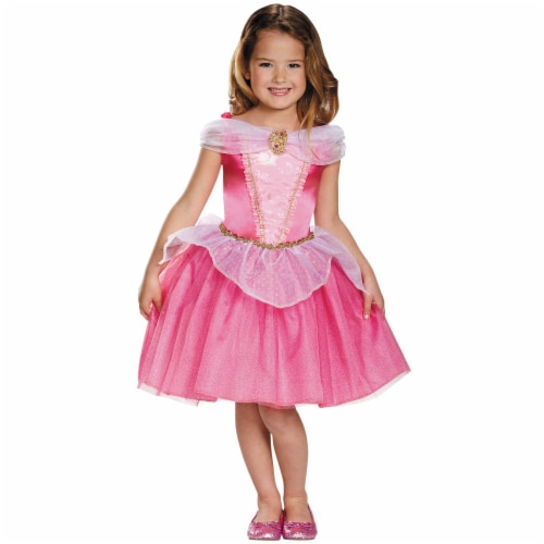 Disguise DG98472K Disney Classic Aurora Childs Costume, Size 7-8 Perspective: front