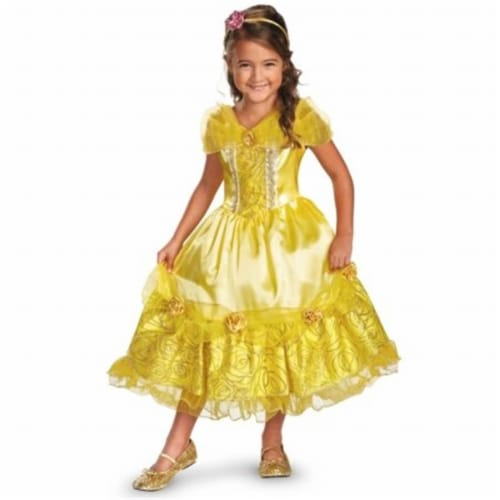 Disguise 218208 Disney Belle Deluxe Sparkle Toddler-Child Costume Small - 4-6x Perspective: front