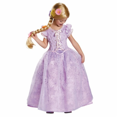 Morris Costumes DG98521L Child Rapunzel Ultra Prestige Costume - Size 4-6 Perspective: front