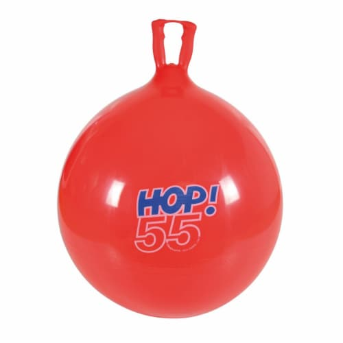 """Gymnic Hop 55 Ball Red 22"""" diameter Perspective: front"""