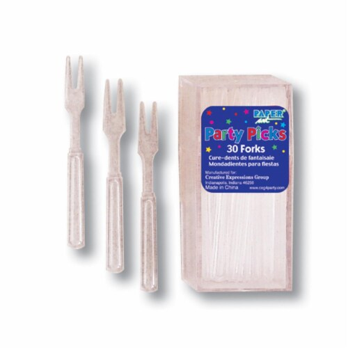 Creative Converting Clear Party Pick Forks - 360 Count Perspective: front