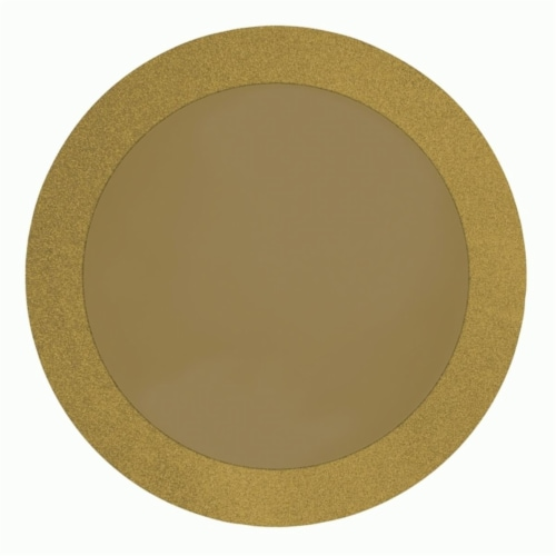 Creative Converting Gold Glitz Prismatic Placemats Perspective: front