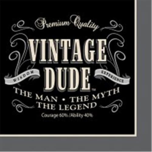 Creative Converting 655567 Vintage Dude - Beverage Napkins - Case of 192 Perspective: front