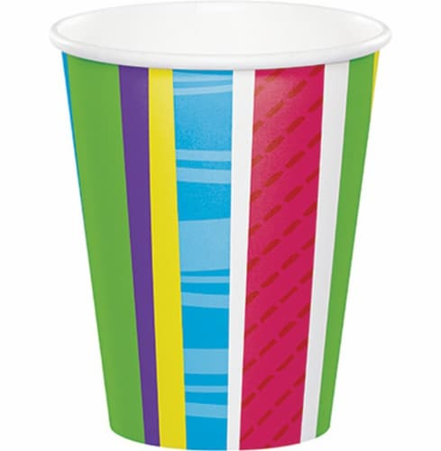 Party Creations Patterned Paper Cups - Bold Stripes Perspective: front