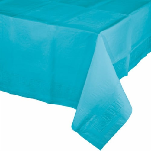 James Paul Products Plastic Tablecloth - Blue Perspective: front
