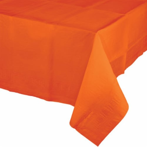 James Paul Products Plastic Tablecloth - Orange Perspective: front