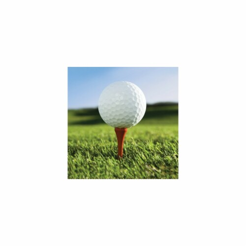 Creative Converting 667965 Sports Fanatic Golf Luncheon Napkins - Case of 216 Perspective: front