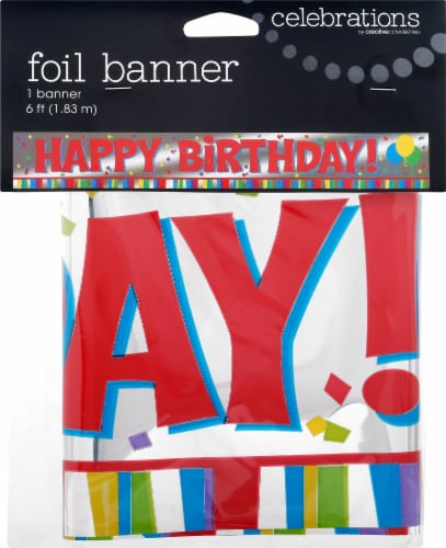 Creative Converting Happy Birthday Foil Banner Perspective: front