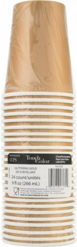 Creative Converting Touch of Color Party Cups - 24 Pack - Glittering Gold Perspective: front