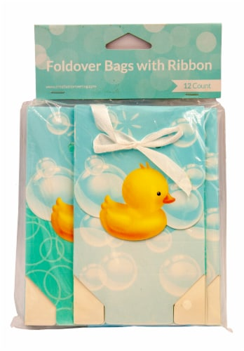 Creative Converting Bubble Bath Foldover Bags with Ribbon Perspective: front