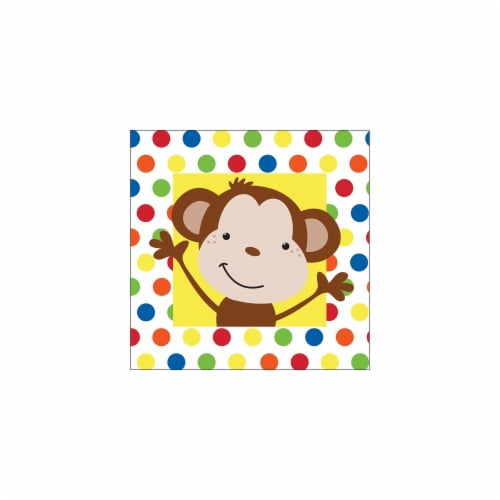 Creative Converting 653439 Fun Monkey Beverage Napkins 2-Ply - Case of 192 Perspective: front