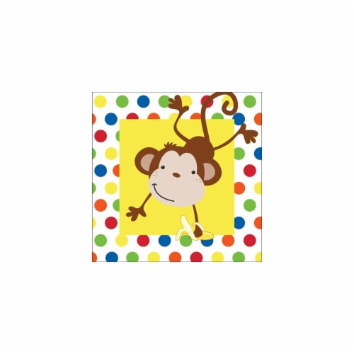 Creative Converting 663439 Fun Monkey Lunch Napkins 2-Ply - Case of 192 Perspective: front