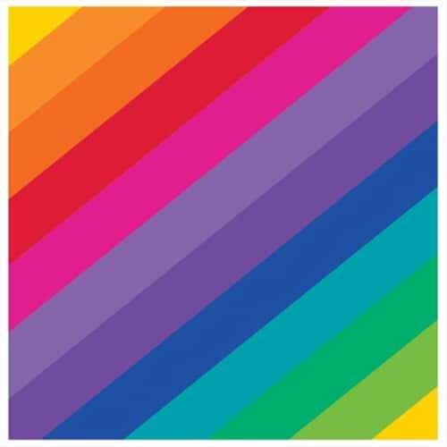 Creative Converting 655972 Rainbow - Beverage Napkins - Case of 192 Perspective: front