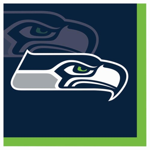 Seattle Seahawks Paper Dinner Plate - 8 Pack Perspective: front