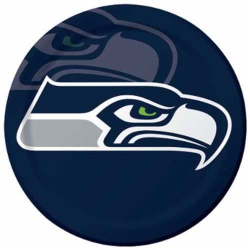 Seattle Seahawks Paper Lunch Plate - 8 Pack Perspective: front