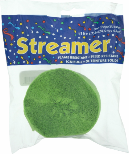 Creative Converting Touch of Color Party Streamer - Fresh Lime Perspective: front