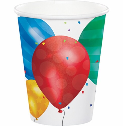 Creative Converting Ballon Blast Paper Party Cup - 8 pk Perspective: front