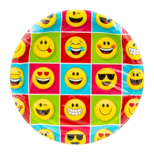 Creative Converting Show Your Emojions Dinner Plate Perspective: front