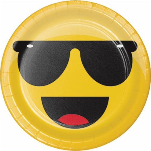 Creative Converting Show Your Emojions Lunch Plate Perspective: front