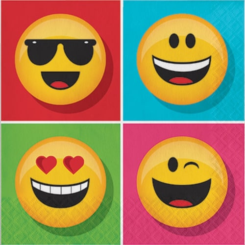 Creative Converting Show Your Emojions Lunch Napkin Perspective: front